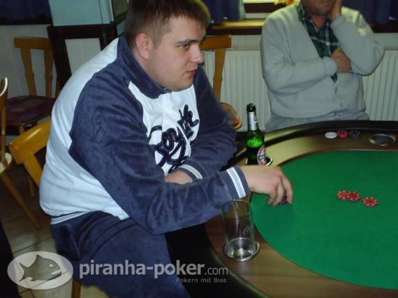 Piranha-Poker Turnier am Sonntag, den 6. April 2008 im Bistro Zeppi`s